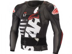 Peto Alpinestars Sequence Long Sleeve Negro / Blanco / Rojo