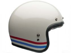 Casco Bell Custom 500 DLX Stripes Blanco