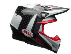 Casco Bell Moto-9 Carbon Flex Vice Negro / Blanco