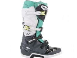 Botas Alpinestars Tech 7 Gris / Teal / Blanco