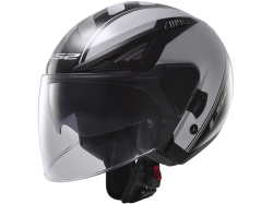Casco Ls2 OF586 Bishop Atom Blanco-Negro