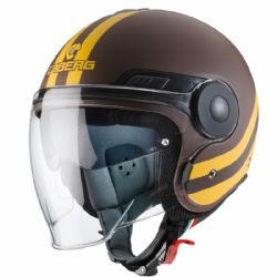 Casco Caberg Uptown Chrono Marrón / Amarillo