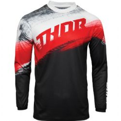 Camiseta Thor Sector Youth Vapor Black / Red