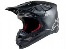 Casco Alpinestars Supertech S-M10 Solid Negro Carbono Mate
