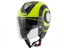 Casco Givi 12.4 Future Big Negro / Amarillo
