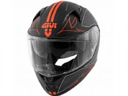 Casco Givi 50.6 Stoccarda Splinter Negro / Rojo