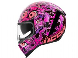 Casco Icon Airform Iluminatus Rosa