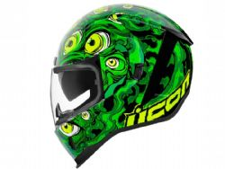 Casco Icon Airform Iluminatus Verde