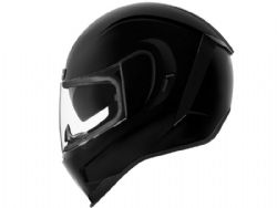 Casco Icon Airform Negro Brillo