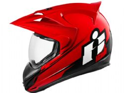 Casco Icon Variant Double Stack Rojo