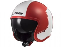 Casco Ls2 OF599 Spitfire Rim Rojo / Blanco