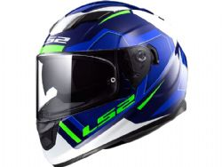 Casco Ls2 FF320 Stream Evo Axis Blanco / Azul