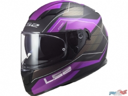 Casco Ls2 FF320 Stream Evo Mercury Titanio Mate / Purpura
