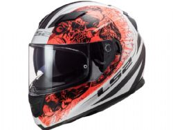 Casco Ls2 FF320 Stream Evo Throne Blanco / Naranja