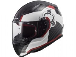 Casco Ls2 FF353 Rapid Ghost Blanco / Negro / Rojo