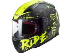 Casco Ls2 FF353 Rapid Naughty Negro Mate / Amarillo