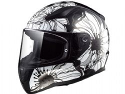 Casco Ls2 FF353 Rapid Poppies Negro / Blanco