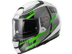 Casco Ls2 FF397 Vector FT2 Titan Blanco / Verde