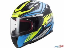 Casco Ls2 Ff353 Rapid Gale Negro Mate / Azul / Amarillo