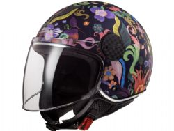 Casco Ls2 OF558 Sphere Lux Bloom Azul / Rosa
