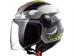 Casco Ls2 OF562 Airflow L Camo Titanio / Amarillo