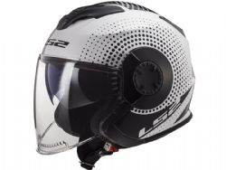Casco Ls2 OF570 Verso Spin Blanco / Negro