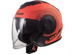 Casco Ls2 OF570 Verso Spin Naranja Mate