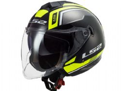 Casco Ls2 OF573 Twister 2 Flix Negro / Amarillo