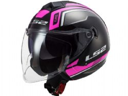 Casco Ls2 OF573 Twister 2 Flix Negro / Violeta
