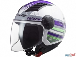 Casco Ls2 Of562 Airflow Ronnie Titanio / Violeta