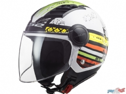 Casco Ls2 Of562 Airflow Ronnie Blanco / Verde