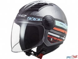 Casco Ls2 Of562 Airflow Ronnie Plata Mate / Azul