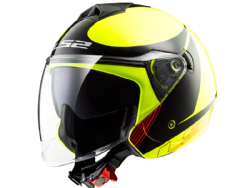 Casco Ls2 OF573 Twister Plane Amarillo / Negro / Rojo
