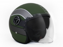 Casco Momo Design Arrow Verde Militar