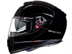 Casco Mt Atom Sv Solid Negro Brillo