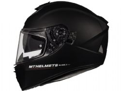 Casco Mt Blade 2 Sv Solid A1 Negro Brillo