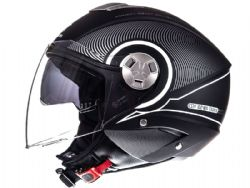 Casco Mt City Eleven Sv Tron Negro Mate / Blanco