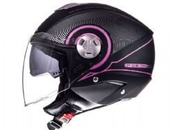 Casco Mt City Eleven Sv Tron Negro Mate / Fucsia
