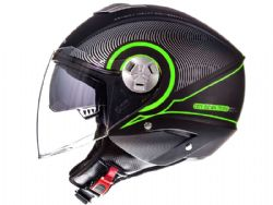 Casco Mt City Eleven Sv Tron Negro Mate / Verde