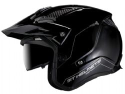 Casco MT District SV Solido A1 Negro Brillo