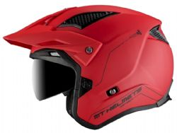 Casco MT District SV Solido A5 Rojo Mate