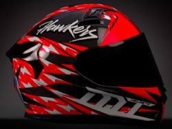 Casco Mt Kre Snake Carbon Hawkers A0 Rojo