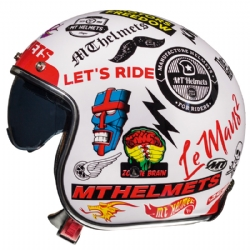 Casco Mt Le Mans 2 Sv Anarchy A0 Blanco