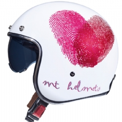 Casco Mt Le Mans 2 Sv Love A0 Brillo Rosa Perla