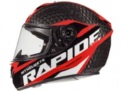 Casco Mt Rapide Pro Kid Carbon C5 Rojo