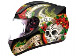 Casco Mt Revenge Skull Rosse Black-Red