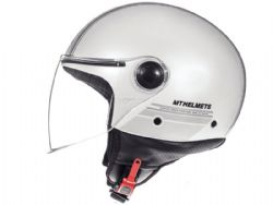 Casco MT Street Entire E6 Brillo Blanco Perla