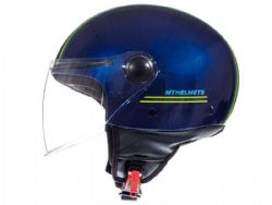 Casco MT Street Entire J2 Brillo Amarillo Fluor