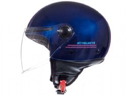 Casco MT Street Entire J4 Brillo Rosa Fluor
