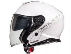 Casco MT Thunder 3 Jet Sv Solid A0 Brillo Blanco Perla